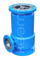 Vertical lift-type check valve with automatic relief